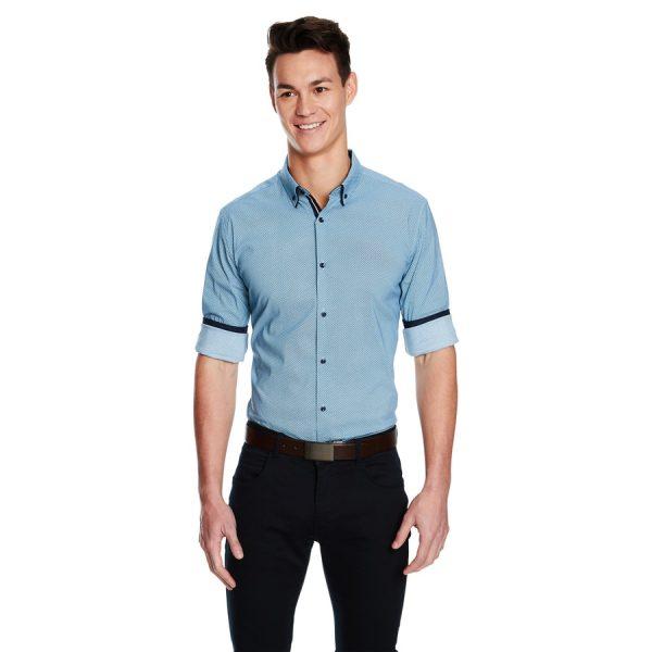Fashion 4 Men - yd. Leeman Teal Slim Fit Shirt Teal Xxxl