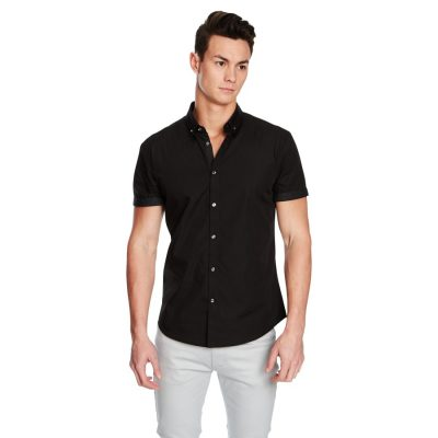 Fashion 4 Men - yd. Nightrider Slim Fit Ss Shirt Black M