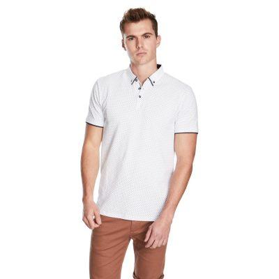 Fashion 4 Men - yd. Port Ss Polo White S