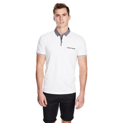 Fashion 4 Men - yd. Rafter Ss Polo White 2 Xs