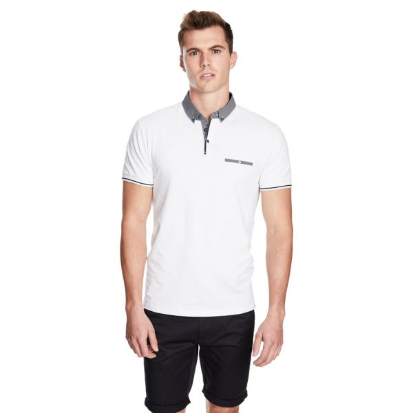 Fashion 4 Men - yd. Rafter Ss Polo White 2 Xs