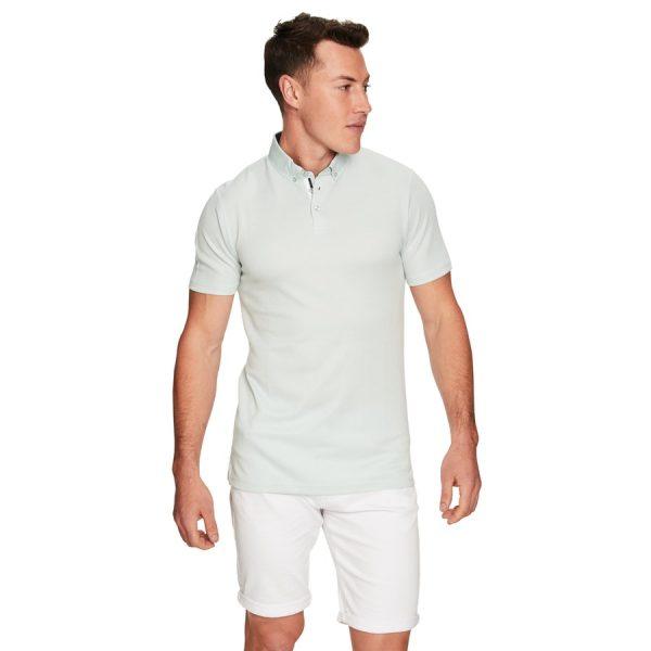 Fashion 4 Men - yd. Sherwood Ss Polo Sea Foam L