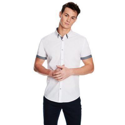 Fashion 4 Men - yd. The City Slim Fit Ss Shirt White M
