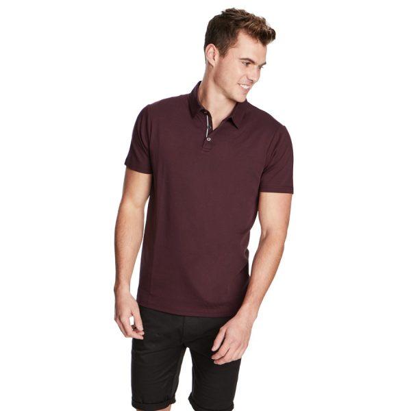 Fashion 4 Men - yd. Tuscan Polo Burgundy L