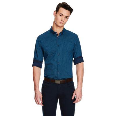 Fashion 4 Men - yd. Windmill Slim Fit Shirt Teal Xxl