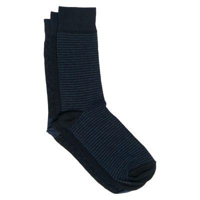 Fashion 4 Men - Tarocash 3 Pack Jacquard Sock Navy 1