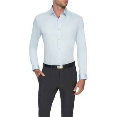 Fashion 4 Men - Tarocash Bahamas Slim Stretch Shirt Ice Blue L