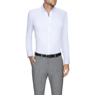 Fashion 4 Men - Tarocash Bermuda Slim Dress Shirt Lilac Xxl