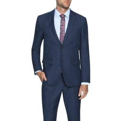 Fashion 4 Men - Tarocash Danny Check 2 Button Suit Navy 38