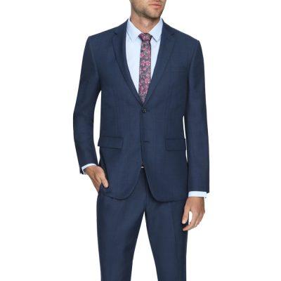 Fashion 4 Men - Tarocash Danny Check 2 Button Suit Navy 42