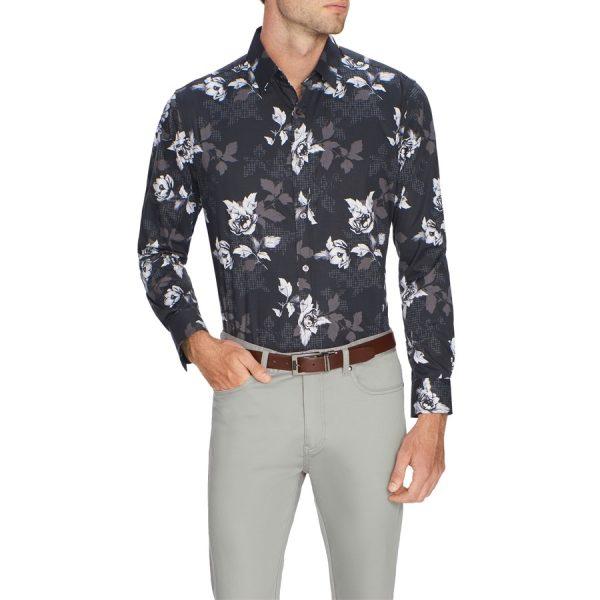 Fashion 4 Men - Tarocash Floral Geo Print Shirt Black Xxxl