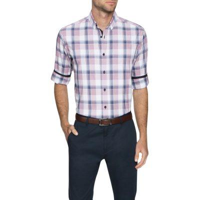 Fashion 4 Men - Tarocash Kostner Large Check Shirt Musk M