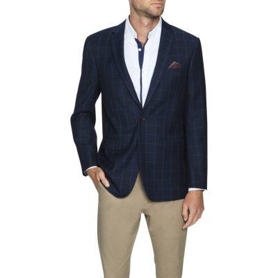 Fashion 4 Men - Tarocash Litt Check Blazer Navy M