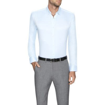 Fashion 4 Men - Tarocash Murphy Stretch Dress Shirt Sky Xs