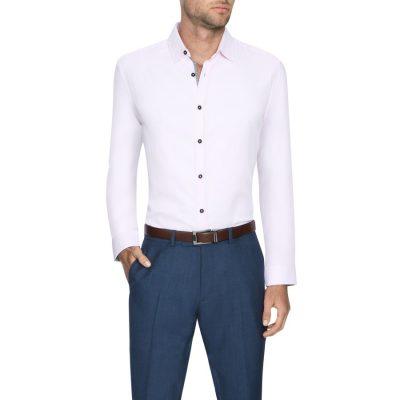 Fashion 4 Men - Tarocash Newton Textured Shirt Pink S