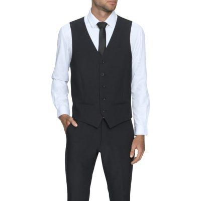 Fashion 4 Men - Tarocash Reed Waistcoat Charcoal Xs
