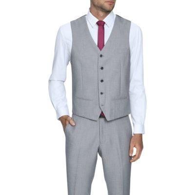 Fashion 4 Men - Tarocash Sandler Waistcoat Silver Xxxl