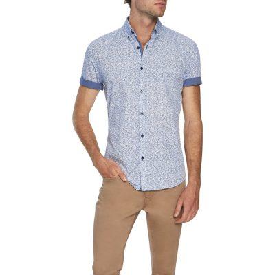 Fashion 4 Men - Tarocash Twinkle Print Shirt White M