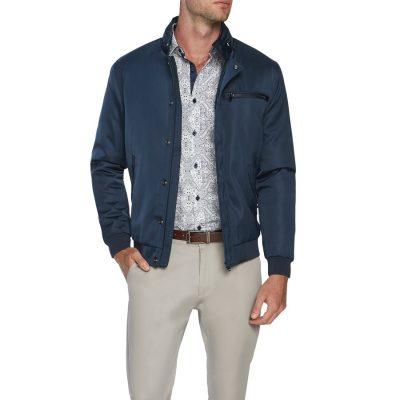 Fashion 4 Men - Tarocash Tycoon Zip Bomber Jacket Navy Xxxl