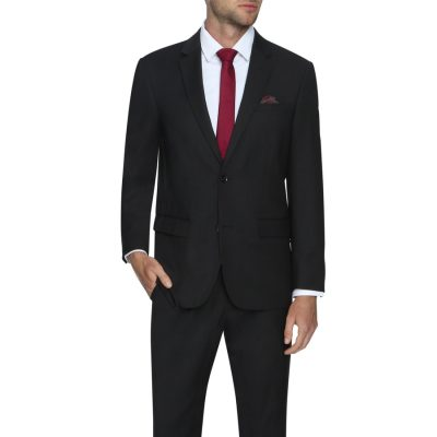Fashion 4 Men - Tarocash Waterford Stretch 2 Button Suit Black 36