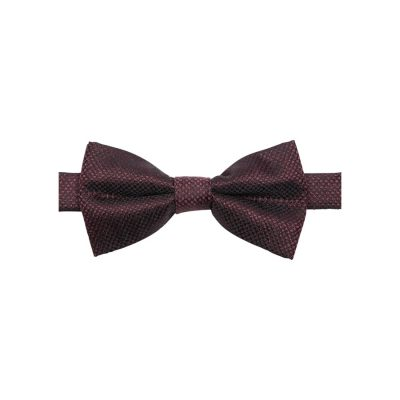 Fashion 4 Men - yd. Bruce Textured Bowtie Dark Red One