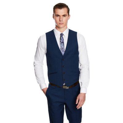Fashion 4 Men - yd. Davis Waistcoat Dark Blue S