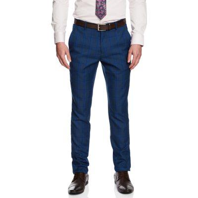 Fashion 4 Men - yd. Dean Skinny Dress Pant Blue Check 34