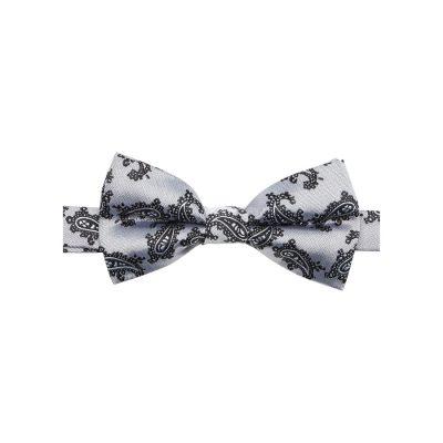 Fashion 4 Men - yd. Eclipse Bowtie Silver/Black One