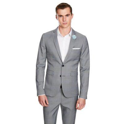 Fashion 4 Men - yd. Flynn Skinny Fit Suit Jacket Grey Check Xl