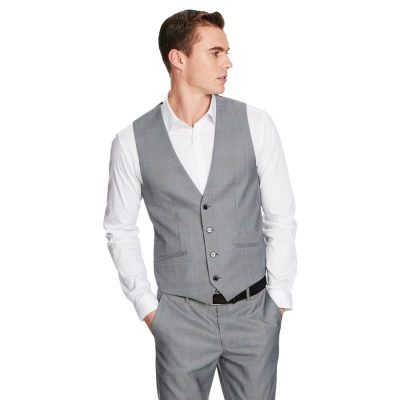 Fashion 4 Men - yd. Flynn Waistcoat Grey Check L