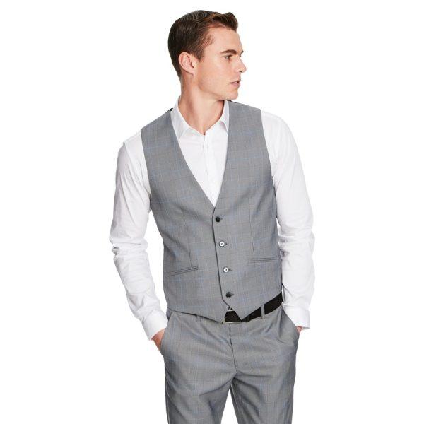 Fashion 4 Men - yd. Flynn Waistcoat Grey Check M