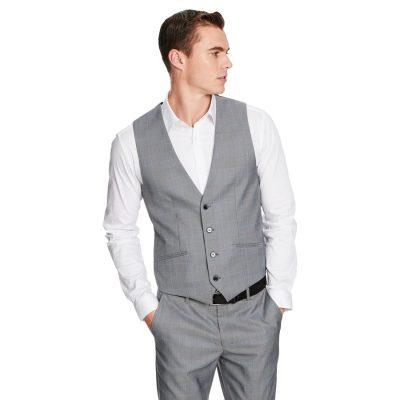 Fashion 4 Men - yd. Flynn Waistcoat Grey Check Xxxl