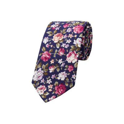 Fashion 4 Men - yd. Freddie Floral 6.5 Cm Tie Navy Floral One
