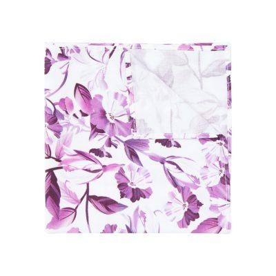 Fashion 4 Men - yd. Soho Floral Pocket Square Purple One