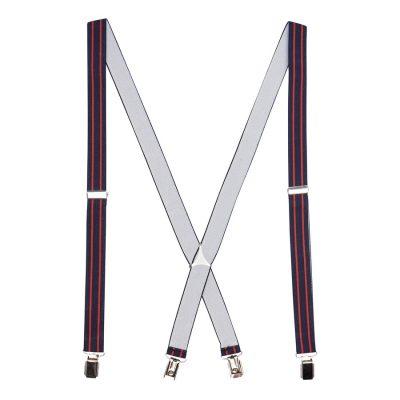 Fashion 4 Men - yd. Stripes Braces Navy/Red One