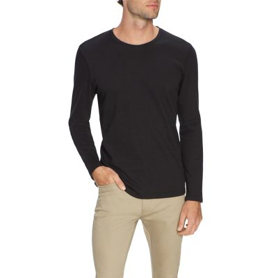 Fashion 4 Men - Tarocash Bjorn Self Stripe Tee Black L