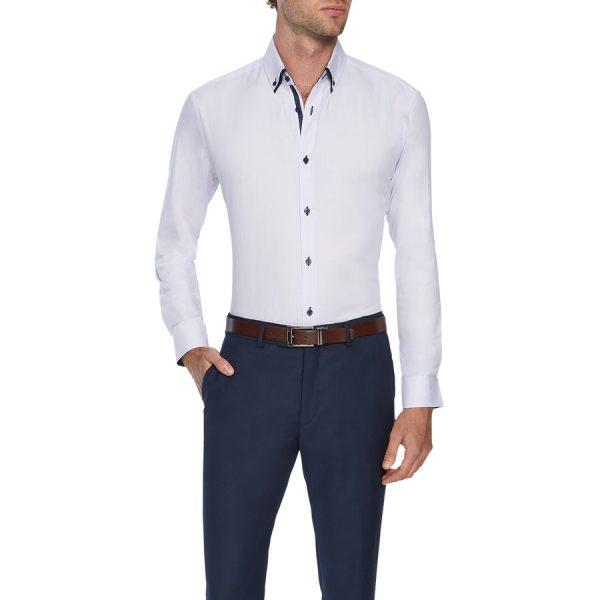 Fashion 4 Men - Tarocash Bowery Mini Check Shirt Lilac L
