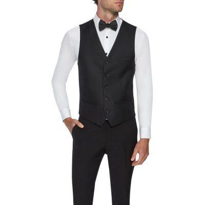 Fashion 4 Men - Tarocash Brocade Waistcoat Black Xl