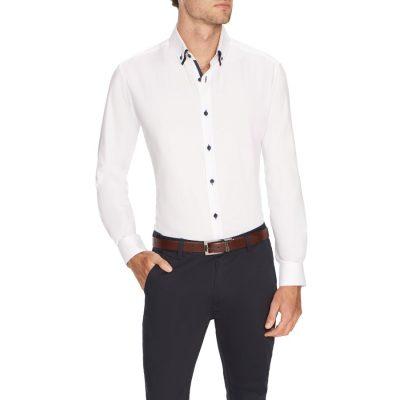 Fashion 4 Men - Tarocash Damon Textured Shirt White Xxxl