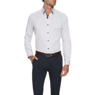 Fashion 4 Men - Tarocash Davies Stripe Shirt Lilac M