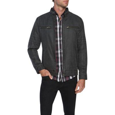 Fashion 4 Men - Tarocash Hart Moto Biker Jacket Black M