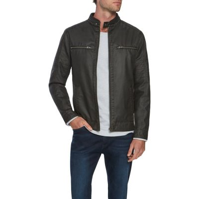 Fashion 4 Men - Tarocash Hart Moto Biker Jacket Chocolate 5 Xl