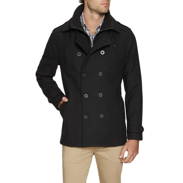 Fashion 4 Men - Tarocash Jez Db Melton Coat Black Xl