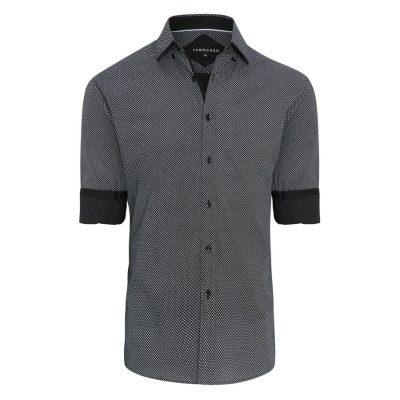 Fashion 4 Men - Tarocash Lord Print Shirt Black M