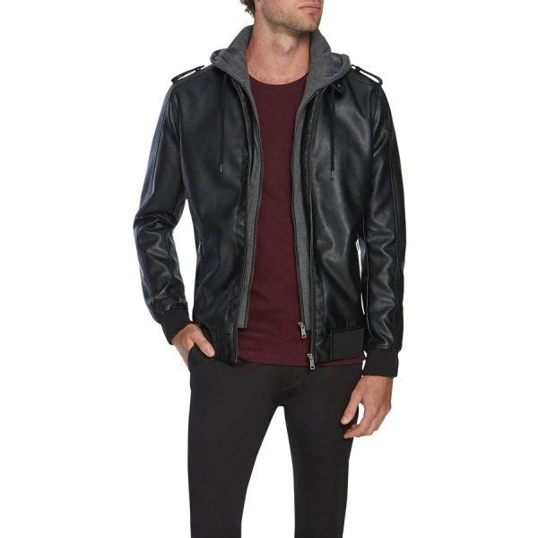 Fashion 4 Men - Tarocash Marshall Pu Bomber Jacket Black L