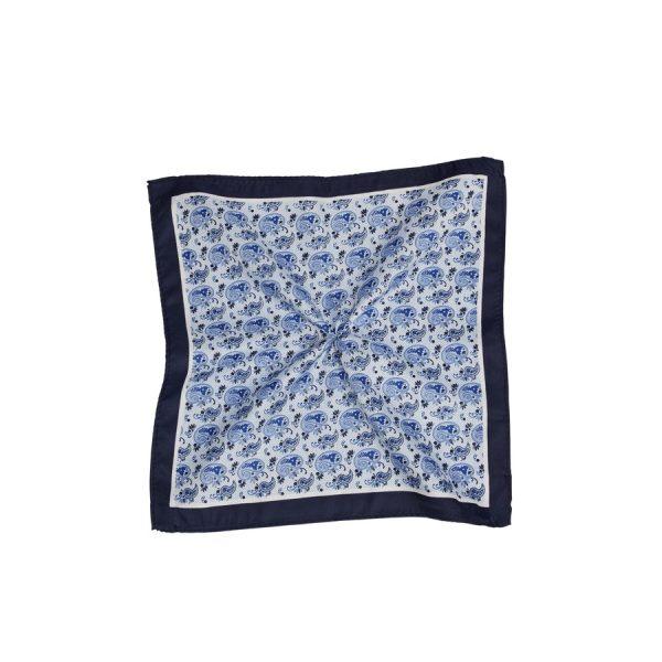 Fashion 4 Men - Tarocash Mini Paisley Pocket Square Navy 1