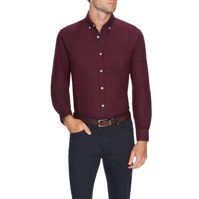 Fashion 4 Men - Tarocash Oxford Shirt Burgundy M