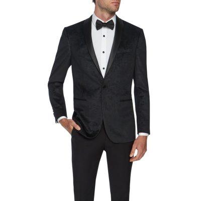 Fashion 4 Men - Tarocash Paisley Tuxedo Jacket Black Xs