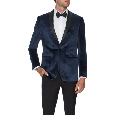 Fashion 4 Men - Tarocash Presley Tuxedo Jacket Navy Xs