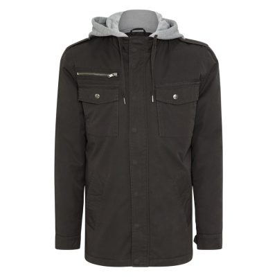 Fashion 4 Men - Tarocash Reserve Hooded Jacket Charcoal M
